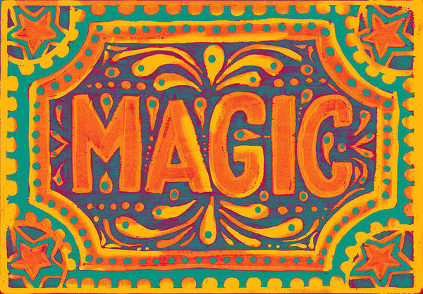 Orange Magic  Art Print