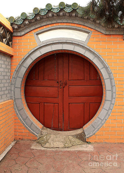 Photograph - Orange Moon Door by Carol Groenen