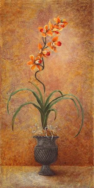 Wall Art - Painting - Orange Orchid by Pam Talley
