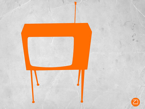 Iconic Digital Art - Orange Tv by Naxart Studio
