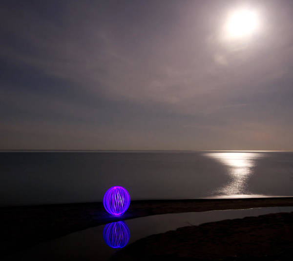 Orb Photograph - Orb On The Beach by Cale Best