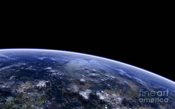 Aerial View Digital Art - Orbitshot Of An Extraterrestrial Planet by Frieso Hoevelkamp