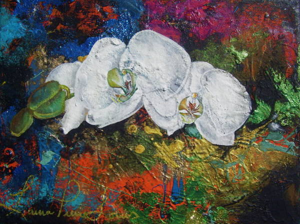 Wall Art - Painting - Orchid Mini by Laura Pierre-Louis