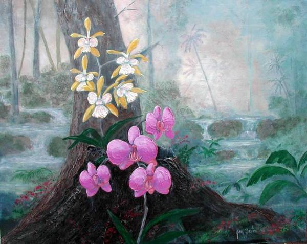 Painting - Orchid Wilderness by Gary Partin