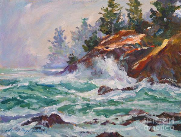 Painting - Oregon Coastal Mist by David Lloyd Glover