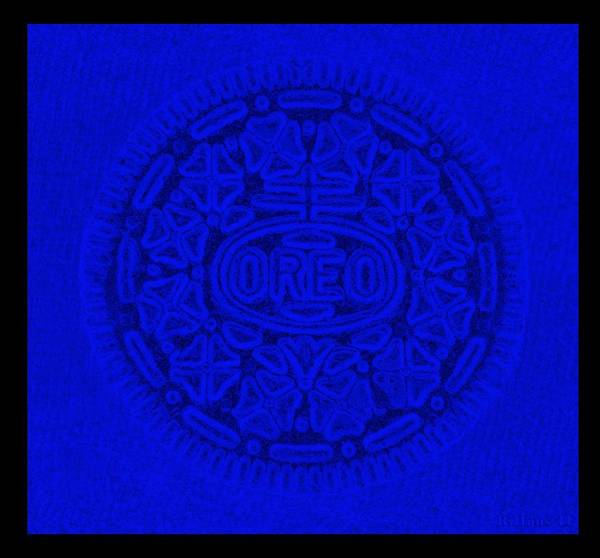 Nabisco Photograph - Oreo In Blue by Rob Hans