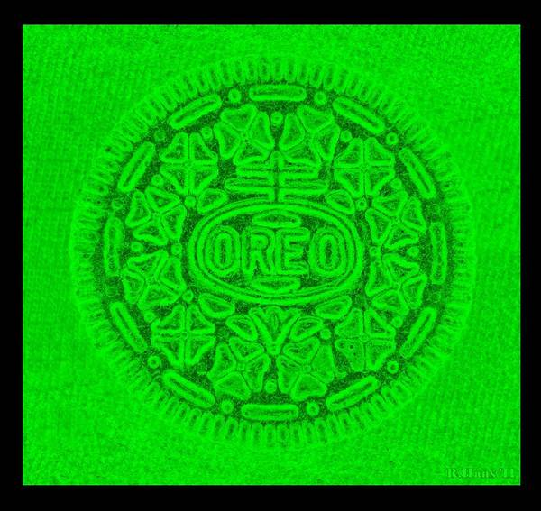 Nabisco Photograph - Oreo In Green by Rob Hans