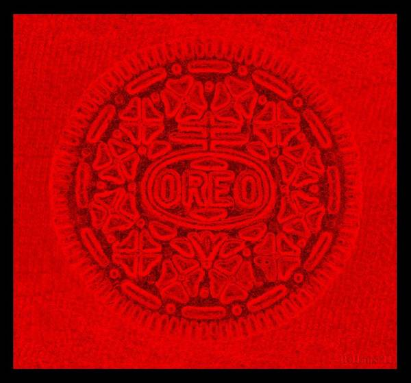 Nabisco Photograph - Oreo In Red by Rob Hans