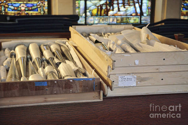Photograph - Organ Pipes For The Us Naval Academy Chapel by William Kuta