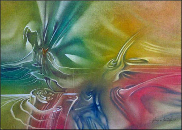 Painting - Organicomp1 - 2008 by Glenn Bautista