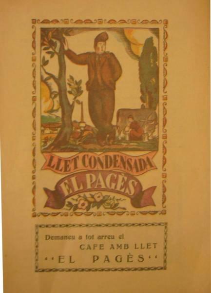 Restaurant Decor Drawing - Original 1930s Vintage Advertisement Spanish Coffee Llet Condensada El Pages  by Anonymous