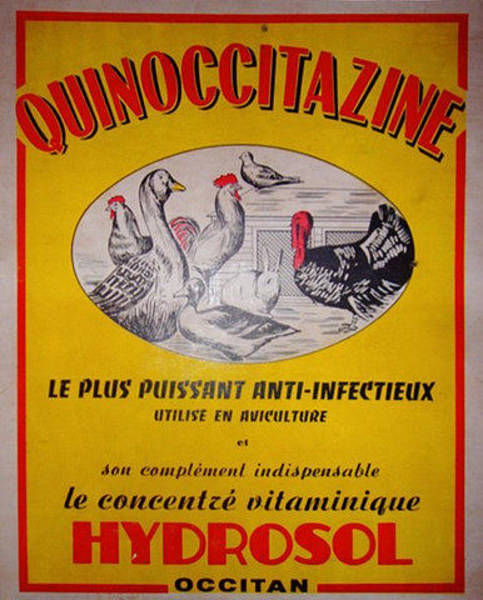 Restaurant Decor Drawing - Original Art Deco French Advertising Carton Hydrosol by Anonymous