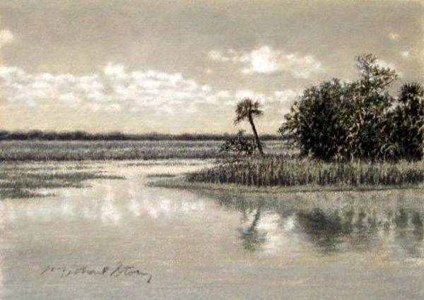 South Beach Drawing - Original Pinckney Island Sanctum by Michael Story