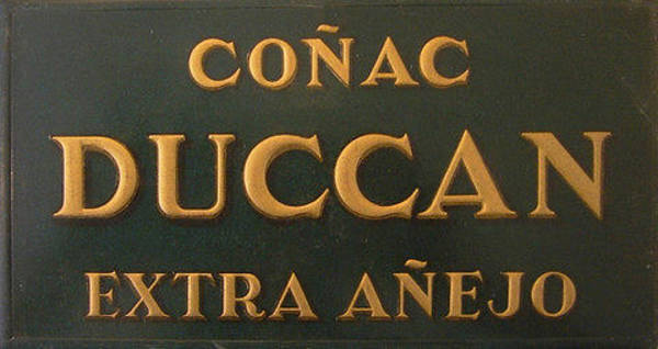 Restaurant Decor Drawing - Original Vintage Spanish Cognac Advertising Carton by Anonymous