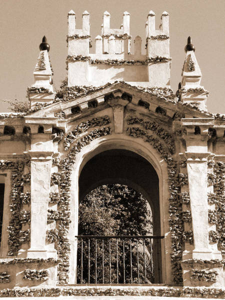Photograph - Ornate Arch Over Railing by Donna Corless
