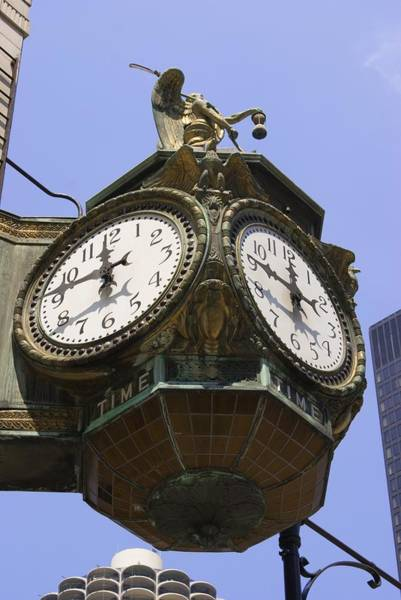 Wabash Avenue Wall Art - Photograph - Ornate Clock In Chicago by Mark Williamson