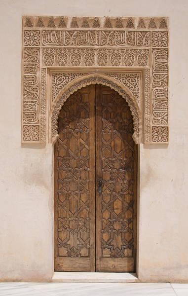Photograph - Ornate Door Alhambra by David Kleinsasser