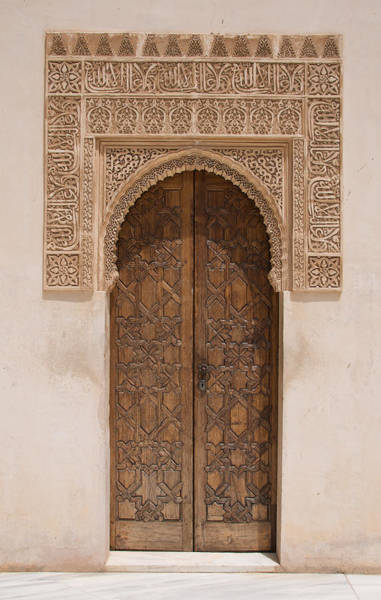 Ornate Door Alhambra Art Print