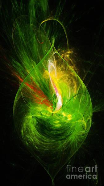 Digital Art - Ornate Emerald Green Drop by Andee Design