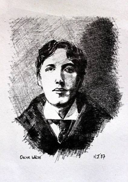 Tropical Drawing - Oscar Wilde by John  Nolan