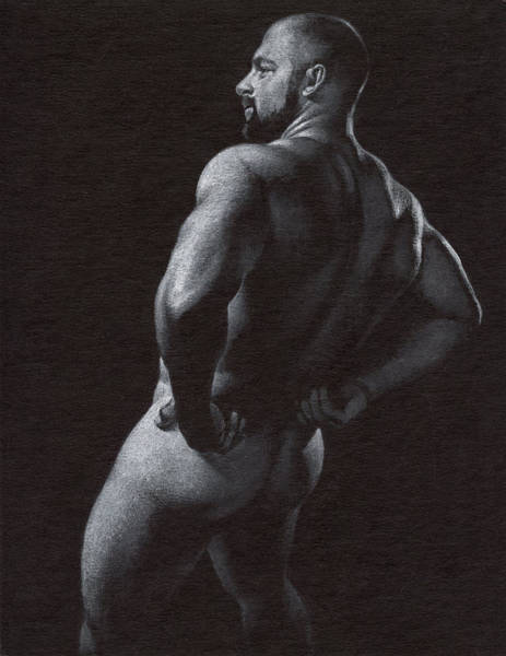 Male Nude Drawing - Oscuro 4 by Chris Lopez