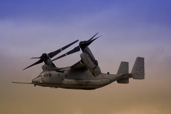 Rotor Photograph - Osprey In Flight II by Ricky Barnard