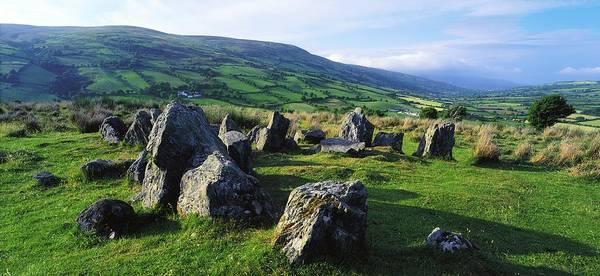 Celtic Mythology Wall Art - Photograph - Ossians Grave, Co Antrim, Ireland Stone by The Irish Image Collection