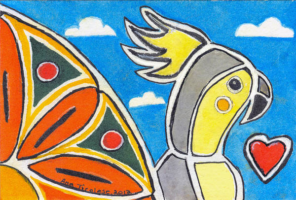 Our Heart Bird Oscar Art Print