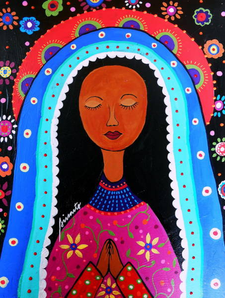 Painting - Our Lady Of Virgen Guadalupe by Pristine Cartera Turkus