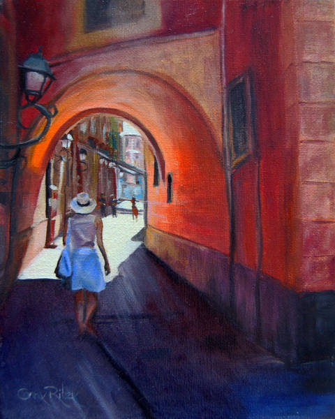Murcia Painting - Out For Tapas by Conny Riley