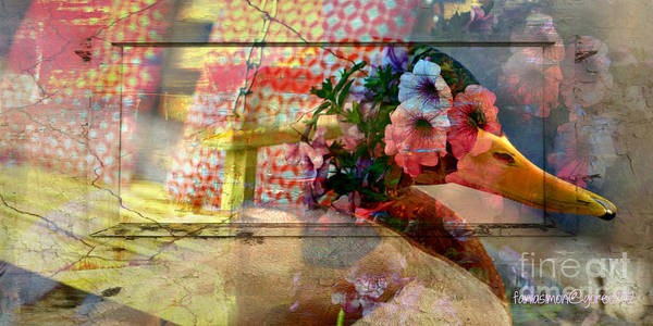 Time Traveler Mixed Media - Out Of The Window by Fania Simon