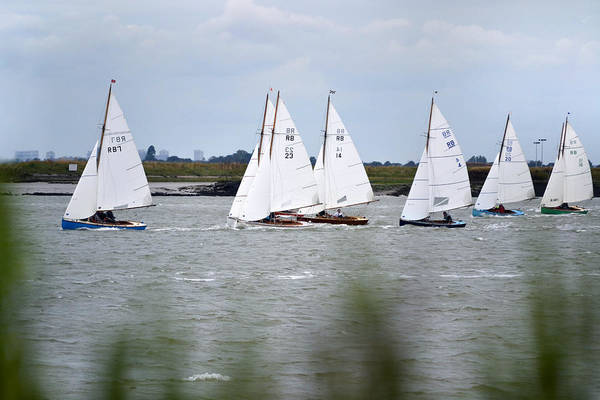 Racing Yacht Photograph - Out With The Fleet. by Terence Davis