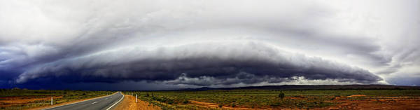 Photograph - Outback Storm Panorama by Paul Svensen