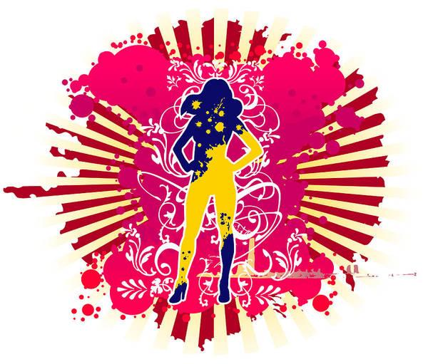 Famous People Digital Art - Outline Of Woman Figure by Eastnine Inc.