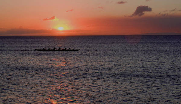 Outrigger Sunset Art Print by Tony and Kristi Middleton