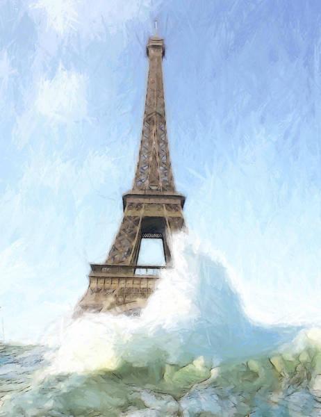 Tsunami Painting - Outside The Ark by Steve K