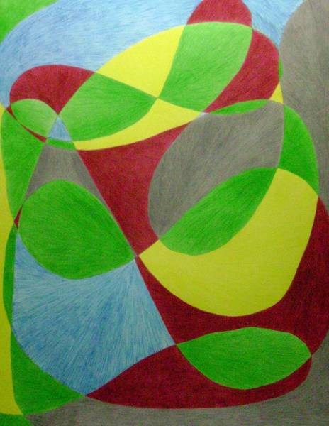 Drawing - Over The Impression by Lesa Weller