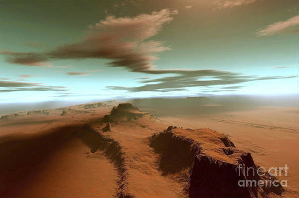 Aerial View Digital Art - Overhead View Of A Vast Desert by Corey Ford