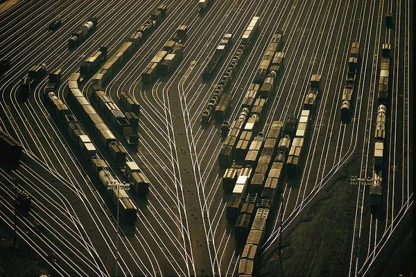 Topeka Wall Art - Photograph - Overhead View Of The Argentine Yards by Emory Kristof