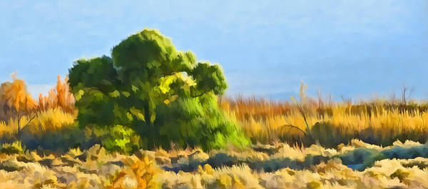 Mixed Media - Owens Valley Tree And Brush by Frank Lee Hawkins  Eastern Sierra Gallery