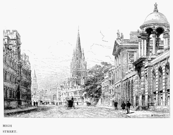 1880 Drawing - Oxford - High Street C1880 by Granger