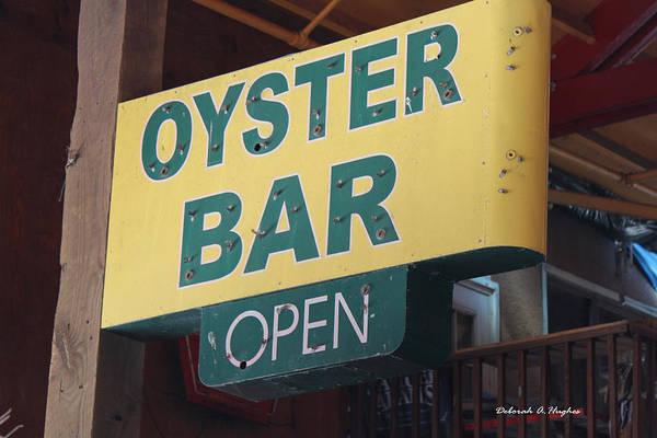 Photograph - Oyster Bar Open by Deborah Hughes