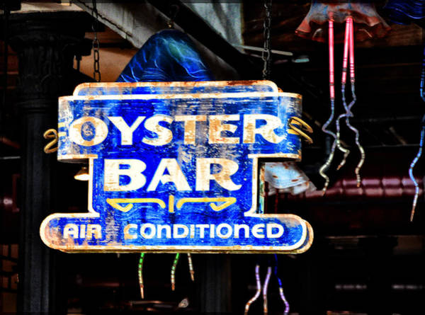 Oyster Bar Wall Art - Photograph - Oyster Bar Sign by Bill Cannon