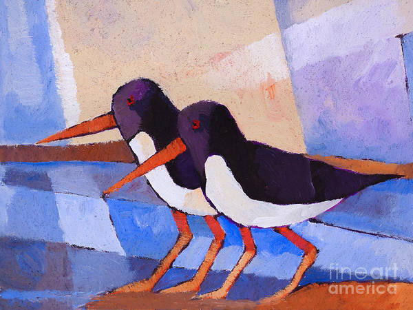 Painting - Oystercatcher Couple by Lutz Baar