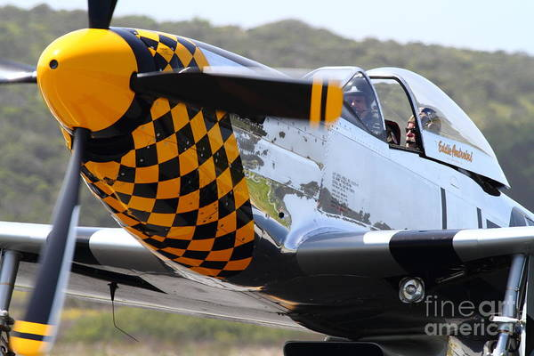 Photograph - P-51 Mustang Fighter Airplane . 7d15598 by Wingsdomain Art and Photography
