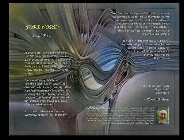 Digital Art - p3 Foreword by Alfredo Roces by Glenn Bautista