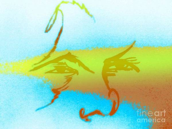 Digital Art - Pacific Northwest Global Warming Face by Robert Haigh