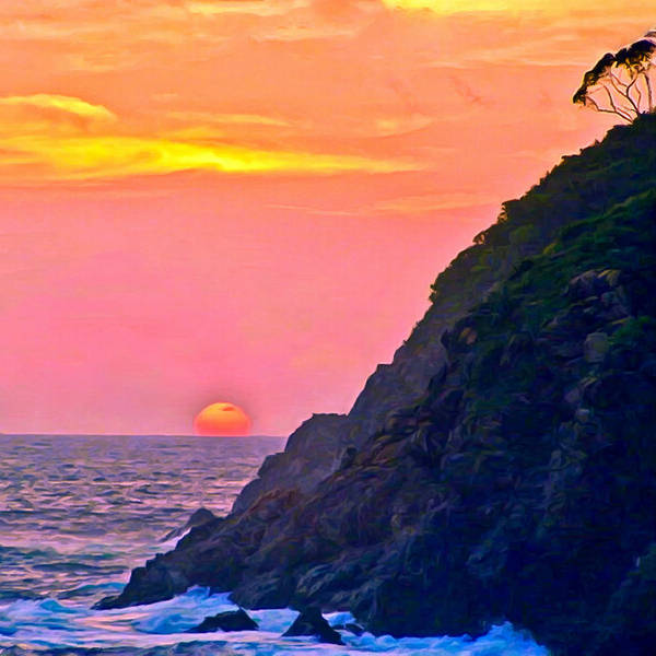 Painting - Pacific Sunset by Bob and Nadine Johnston