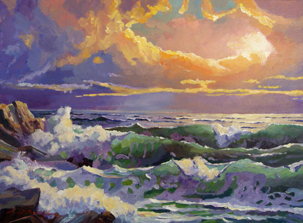 Painting - Pacific Sunset Sonata by David Lloyd Glover