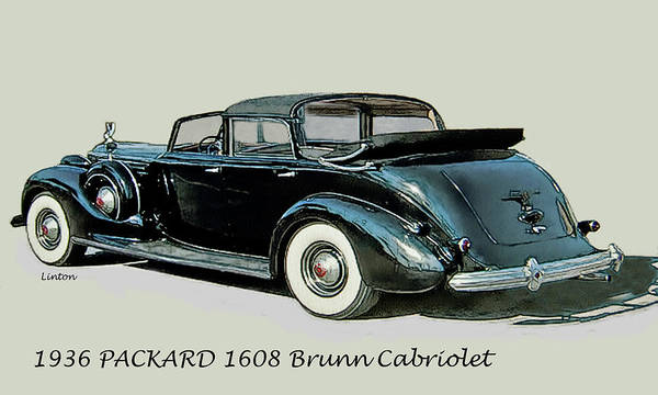 Digital Art - Packard Cabriolet by Larry Linton